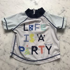 Baby Gap Life Is A Party Bathing Suit Shirt Top